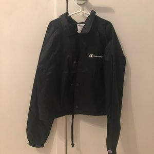 authentic cropped champion raincoat